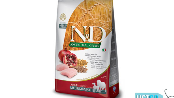 Farmina N&D Ancestral Low Grain Chicken & Pomegranate Adult Dog Food (Medium & Maxi Breeds)
