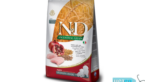 Farmina N&D Ancestral Low Grain Chicken & Pomegranate Puppy Dog Food (Medium & Maxi Breeds)