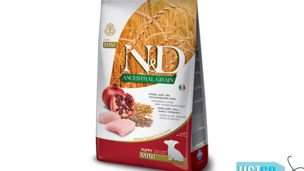 Farmina N&D Ancestral Low Grain Chicken & Pomegranate Puppy Dog Food (Mini & Small Breeds)