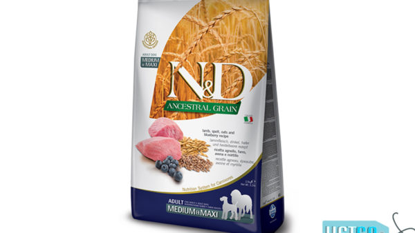 Farmina N&D Ancestral Low Grain Lamb & Blueberry Adult Dog Food (Medium & Maxi Breeds) 1