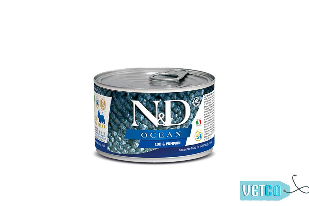 Farmina N&D Ocean Adult Wet Dog Food Cod & Pumpkin (Small & Mini Breeds), 140 gms