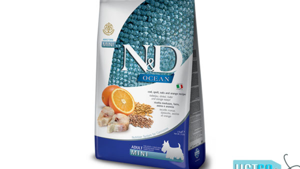 Farmina N&D Ocean Low Grain Ocean Codfish, Spelt, Oats & Orange Adult Dog Food (Mini & Small Breeds)