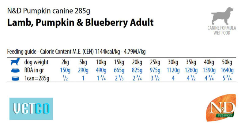 Farmina N&D Pumpkin Adult Wet Dog Food Lamb & Blueberry (Medium & Maxi Breeds), 285 gms