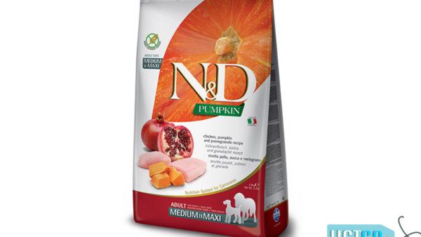 Farmina N&D Pumpkin Grain Free Chicken & Pomegranate Adult Dog Food (Medium & Maxi Breeds)