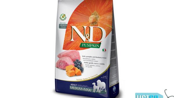 Farmina N&D Pumpkin Grain Free Lamb & Blueberry Adult Dog Food (Medium & Maxi Breeds)