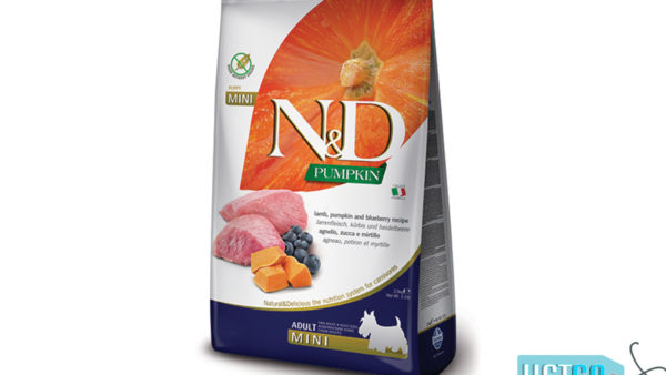 Farmina N&D Pumpkin Grain Free Lamb & Blueberry Adult Dog Food (Mini & Small Breeds)