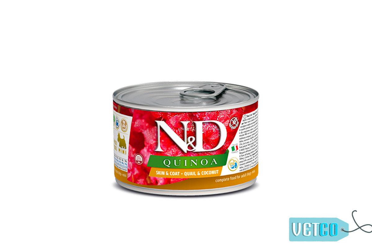 Farmina N&D Quinoa Adult Wet Dog Food Skin & Coat (Small & Mini Breeds), 140 gms