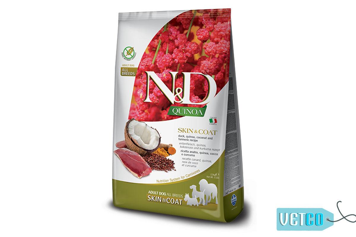 Farmina N&D Quinoa Skin & Coat Grain Free Duck Adult Dog Food (All Breeds)