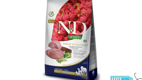 Farmina N&D Quinoa Weight Management Grain Free Lamb Adult Dog Food (All Breeds)