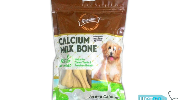 Gnawlers Calcium Milk Bones Dog Treats - Medium (12 Pieces), 270 gms