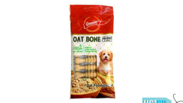 Gnawlers Oat Bone Dog Snack – Medium, 55 gms