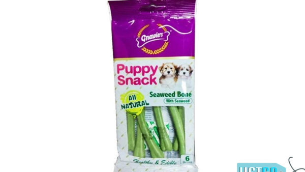 Gnawlers Seaweed Bone Puppy Snack, 40g (Pack of 2)