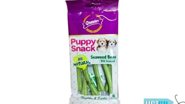 Gnawlers Seaweed Bone Puppy Snack, 40g (Pack of 2)