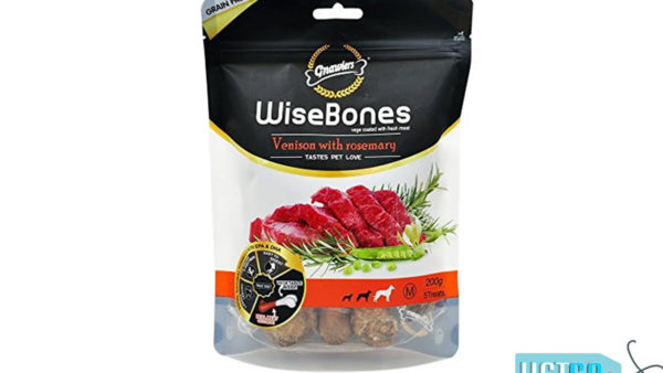 Gnawlers Wisebone Grain Free Dog Treat Venison with Rosemary – Medium, 200 gms