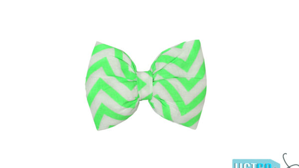 Mutt Ofcourse Chevron Green Bow Tie for Dogs