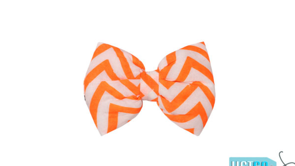 Mutt Ofcourse Chevron Orange Bow Tie for Dogs