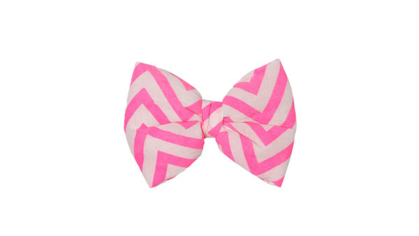 Mutt Ofcourse Chevron Pink Bow Tie for Dogs