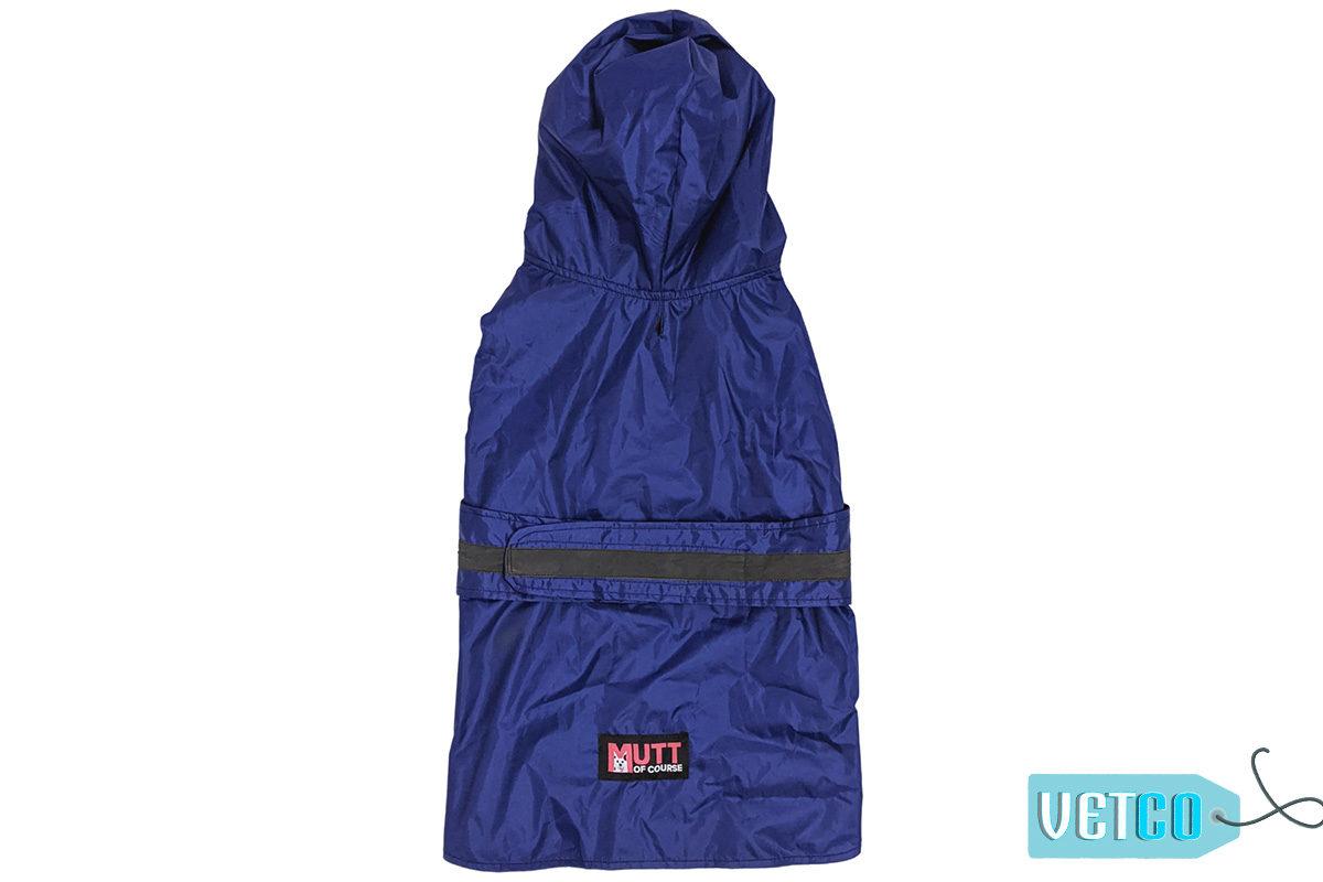 Mutt Ofcourse Dog Raincoat - Royal Blue