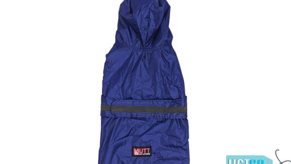 Mutt Ofcourse Dog Raincoat - Royal Blue
