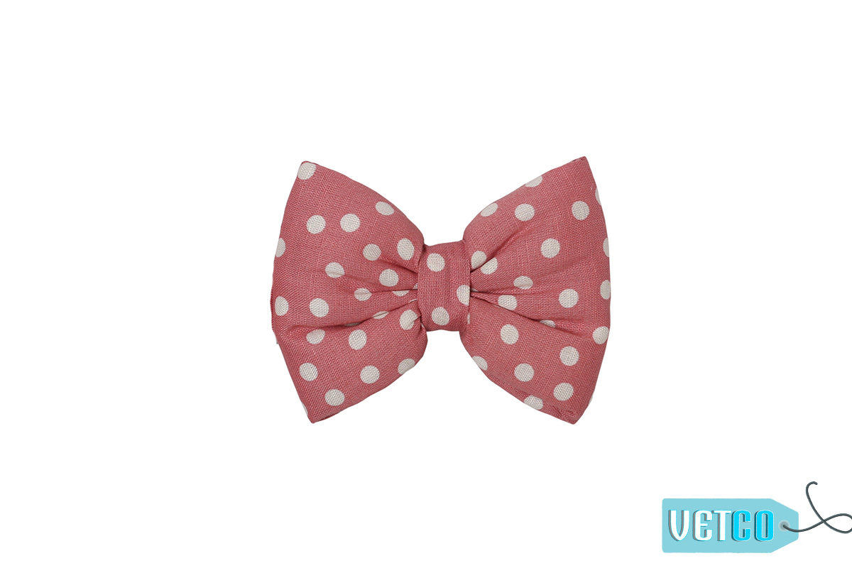 Mutt Ofcourse Polka Pink Bow Tie for Dogs