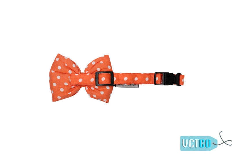 Mutt Ofcourse Polka Salmon Bow Tie for Dogs