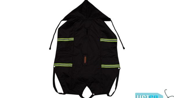 PetWale Reflective Dog Raincoat – Black