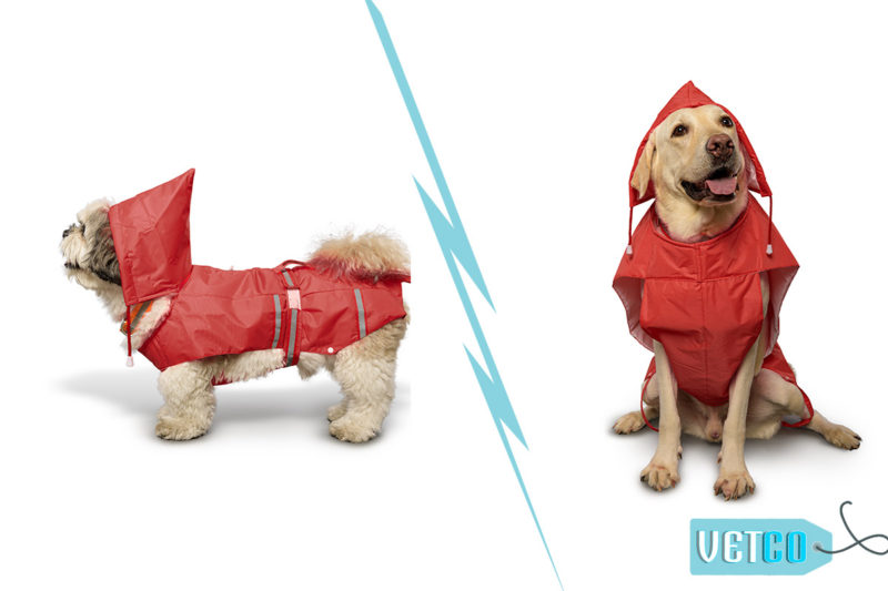 PetWale Reflective Dog Raincoat – Red