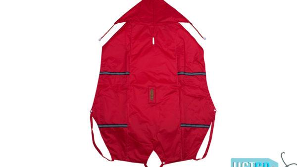 PetWale Reflective Dog Raincoat – Red