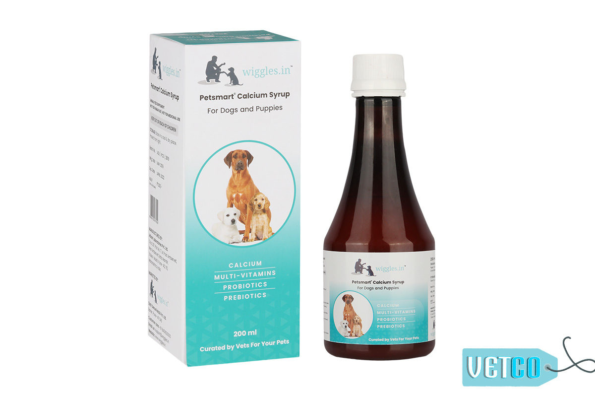Wiggles Calcium Syrup for Dogs and Puppies, 200ml