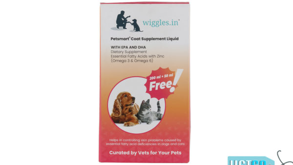 Wiggles Coat Supplement Liquid for Dogs and Cats, 250ml