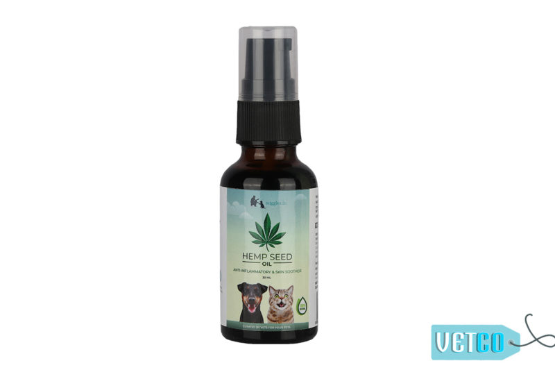 Wiggles Hemp Seed Oil for Dogs and Cats, 30ml
