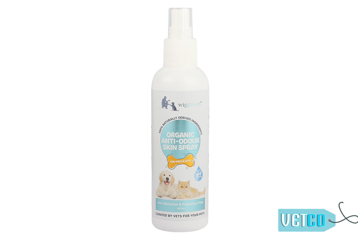 Wiggles Organic Anti-odour Skin Spray For Dogs and Cats, 200ml