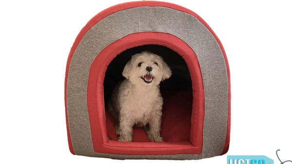 Barks & Wags Doggy Den Covered Cat & Dog Bed