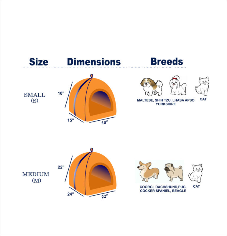Barks n Wags Doggy Den Covered Cat & Dog Bed Suze