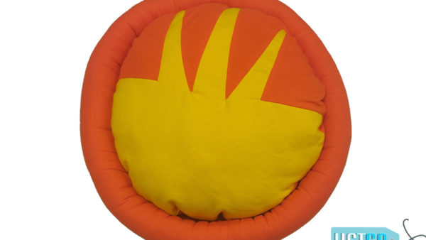 Barks n Wags Orange Dog & Cat Bolster Bed