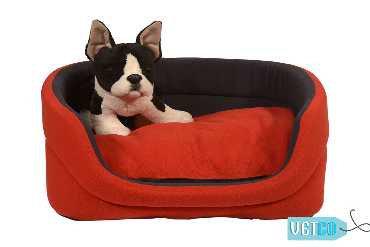 Barks n Wags Red and Blue Cuddler Dog & Cat Bed
