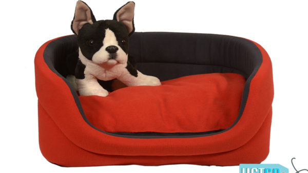 Barks & Wags Red and Blue Cuddler Dog & Cat Bed
