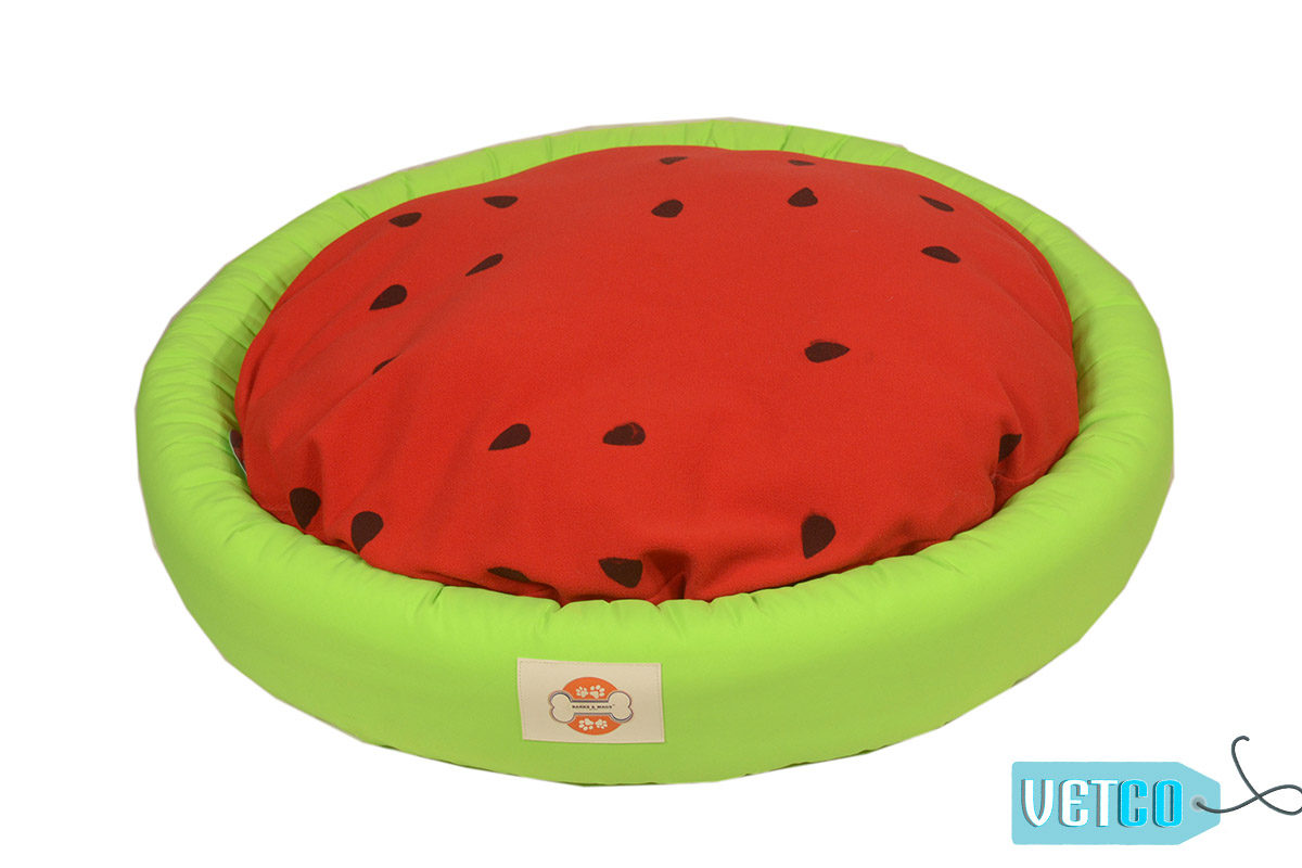 Barks n Wags Watermelon Dog & Cat Bolster Bed