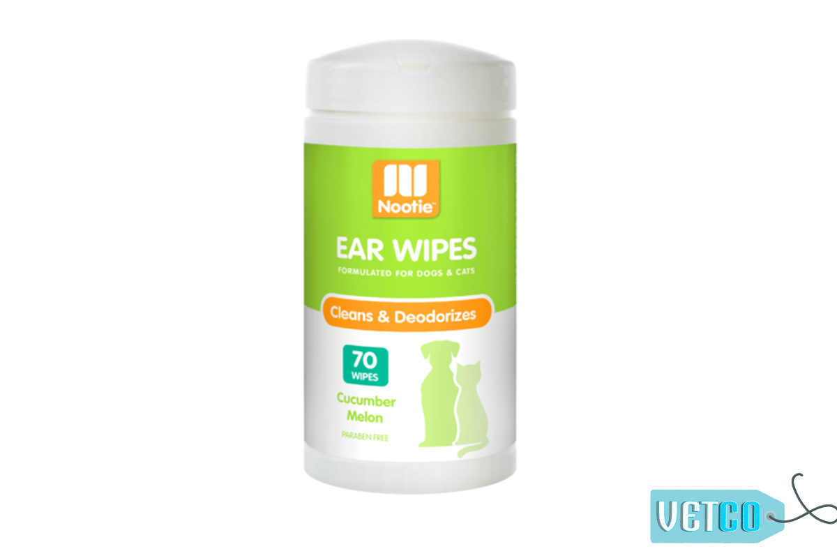 Nootie Cucumber Melon Ear Wipes, 70 count