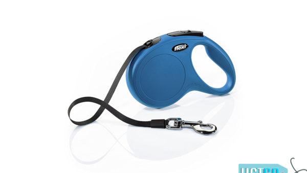 Flexi New Classic Retractable Tape Dog Leash - Blue