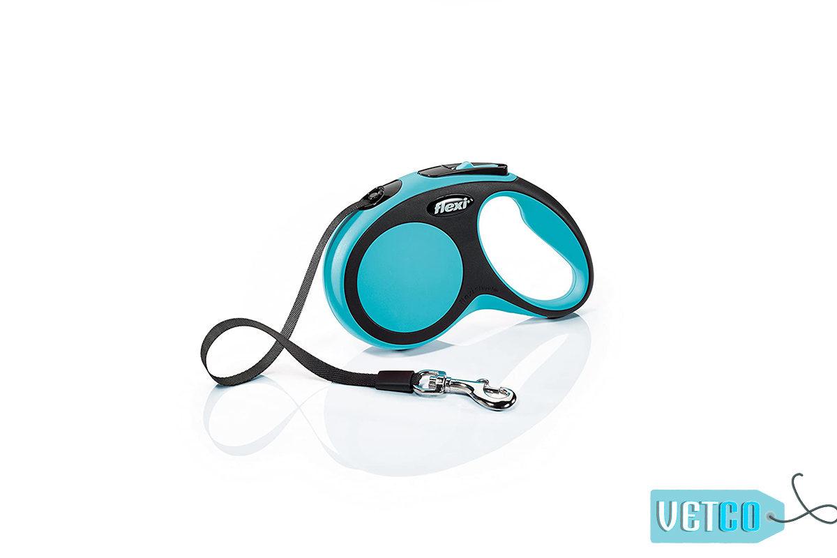 Flexi New Comfort Retractable Tape Dog Leash - Blue