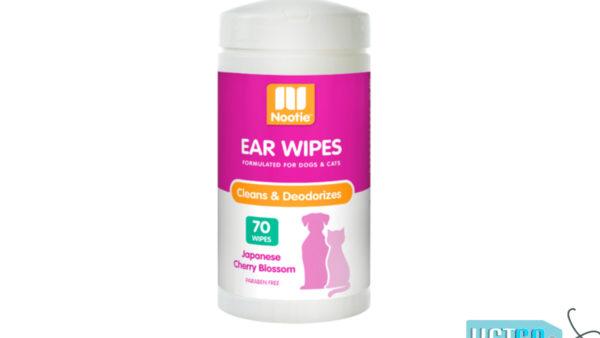 Nootie Sweet Pea & Vanilla Ear Wipes, 70 count