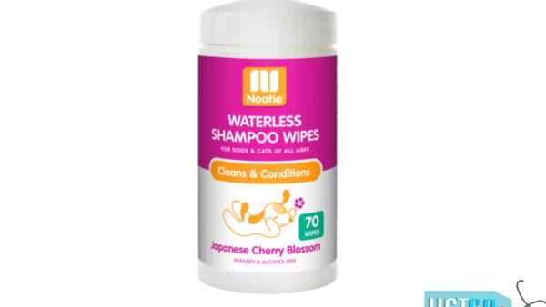 Nootie Sweet Pea & Vanilla Waterless Shampoo Dog & Cat Wipes, 70 count