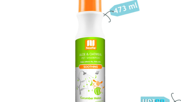 Nootie Soothing Aloe & Oatmeal Cucumber Melon Dog & Cat Shampoo, 473 ml