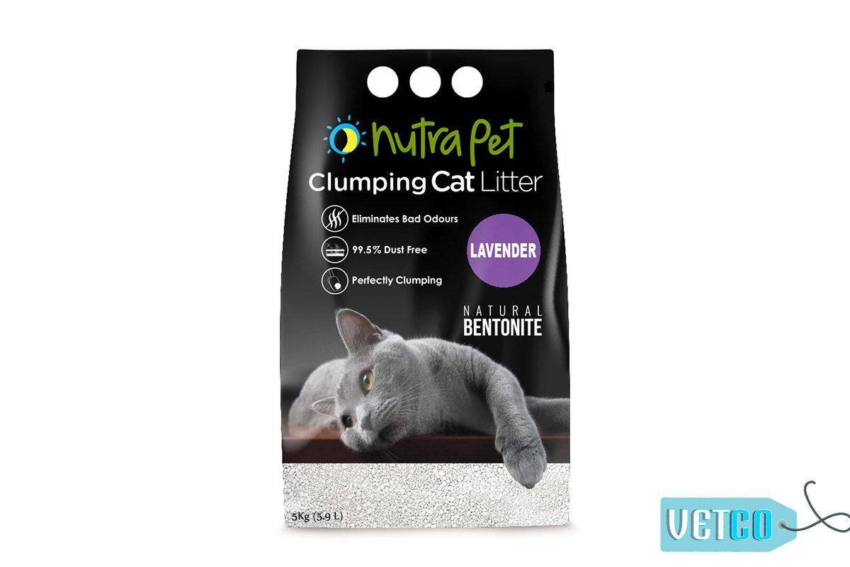 Nutrapet Lavender White Bentonite Clumping Cat Litter, 5kg