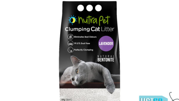 Nutrapet Lavender White Bentonite Clumping Cat Litter, 5kg