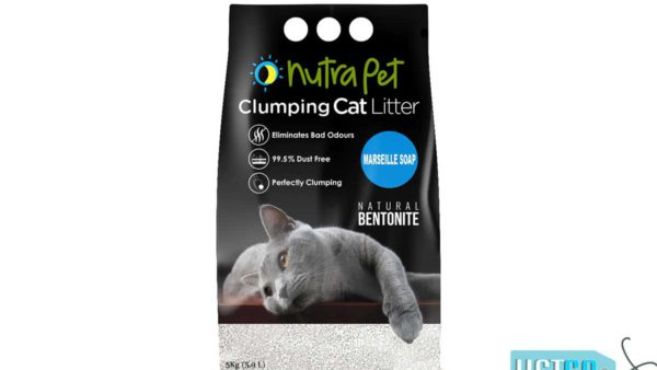 Nutrapet Marseille Soap White Bentonite Clumping Cat Litter, 5kg