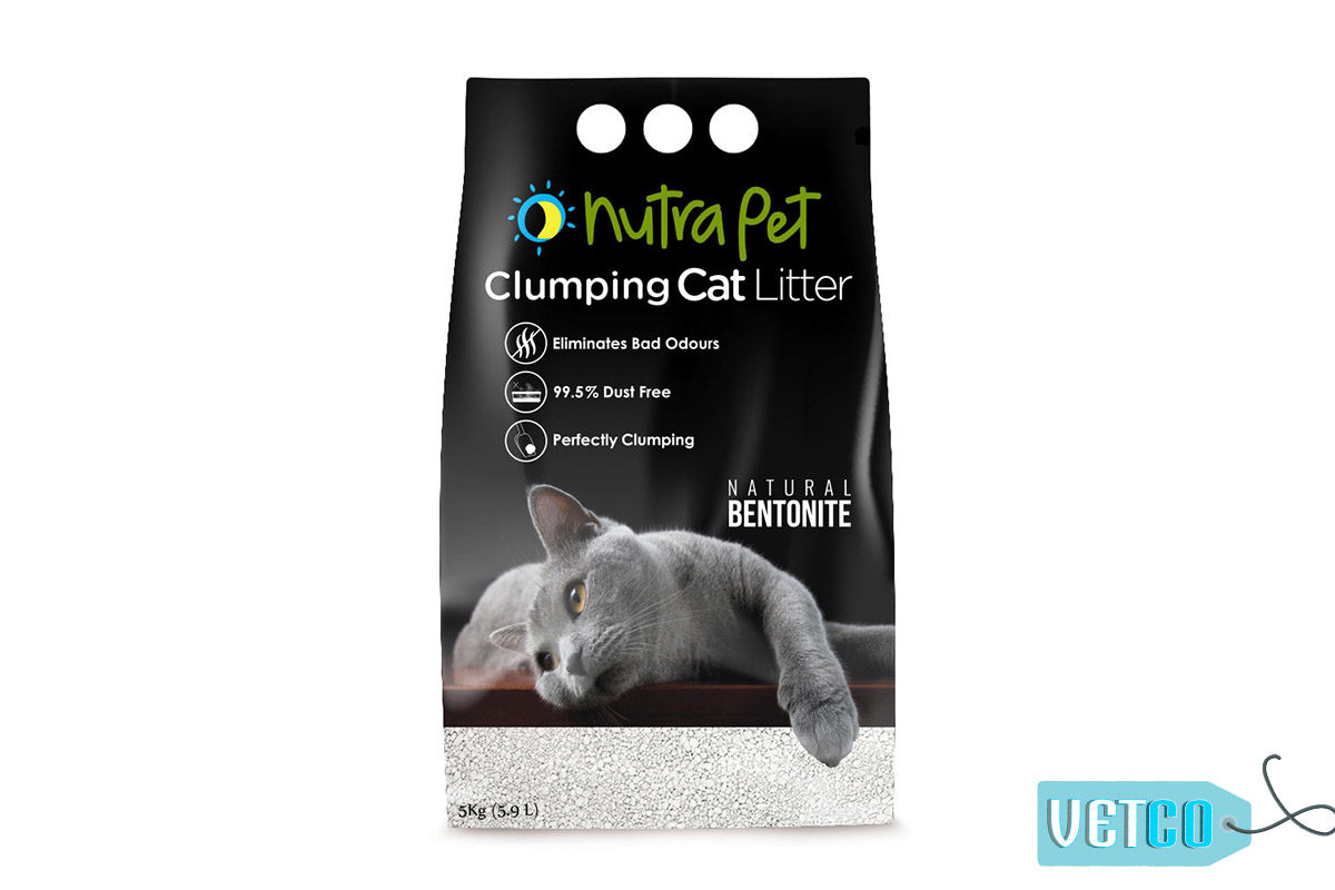 Nutrapet White Bentonite Clumping Cat Litter (Unscented), 5kg