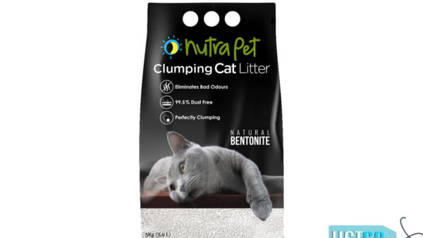 Nutrapet White Bentonite Clumping Cat Litter (Unscented), 5kg