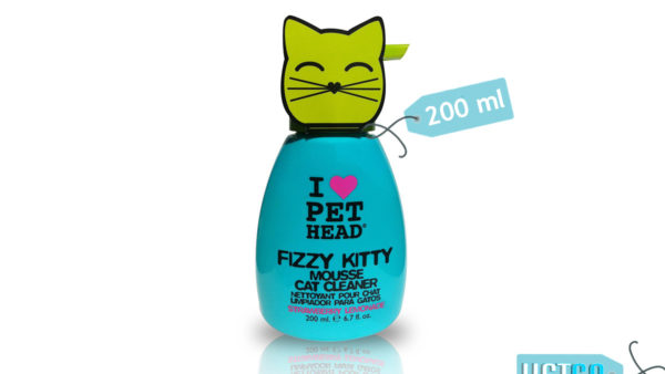 Pet Head Fizzy Kitty Strawberry Lemonade Mousse Cat Cleaner, 200 ml